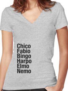 Finding Nemo Names List Women's Fitted V-Neck T-Shirt