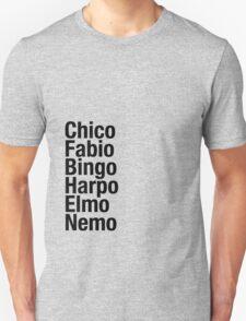 Finding Nemo Names List T-Shirt