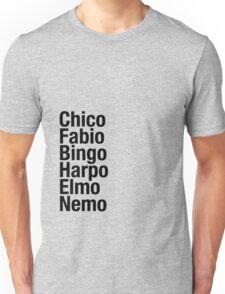 Finding Nemo Names List Unisex T-Shirt