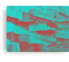 Paper Layers Cyan Canvas Print