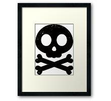 Cute Skull and Crossbones (black) Framed Print