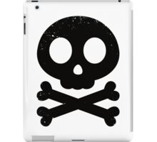 Cute Skull and Crossbones (black) iPad Case/Skin