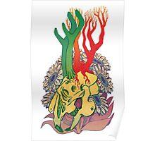 Jackalope Skull Poster