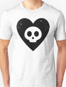 Cute Skull in Heart (black) T-Shirt