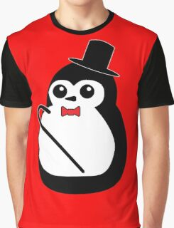 Classy Penguin Graphic T-Shirt