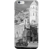 Vernazza in Black and White iPhone Case/Skin
