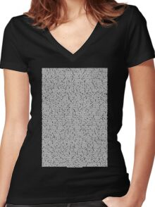 Bee movie script black shirt Women's Fitted V-Neck T-Shirt