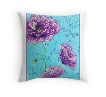 Titania's Poppies II Throw Pillow
