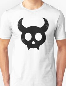 Cute Skull with Horns (black) T-Shirt