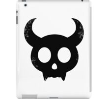 Cute Skull with Horns (black) iPad Case/Skin