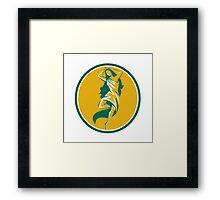 Aphrodite Pirouette Oval Retro Framed Print