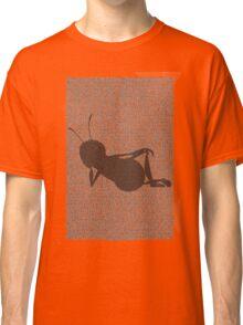Bee script silhouette Classic T-Shirt