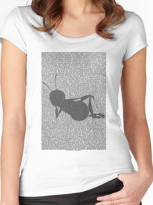Bee script silhouette Women's Fitted Scoop T-Shirt
