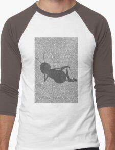 Bee script silhouette Men's Baseball ¾ T-Shirt