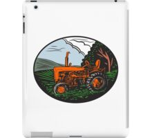 Vintage Tractor Farm Woodcut iPad Case/Skin