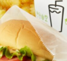 Shake Shack Burger Combo Sticker