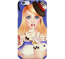 My Name is Alice and this is my Wonderland ( Blue Version) iPhone Case/Skin