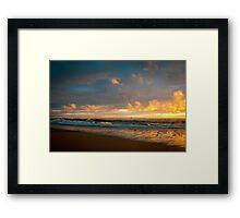 Burning Tide Framed Print