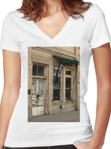 Antique Shop Women's Fitted V-Neck T-Shirt