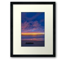 Night is coming Framed Print