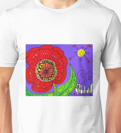 Red Flowers Grow In Mo's Garden Unisex T-Shirt