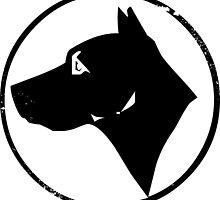 Dog Head (black) by PsychicCatStore