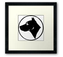 Dog Head (black) Framed Print
