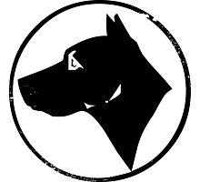 Dog Head (black) Photographic Print