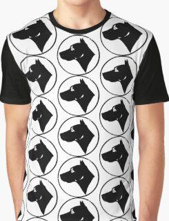 Dog Head (black) Graphic T-Shirt