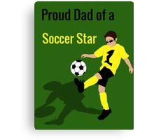 Soccer Boy (Dad) Canvas Print