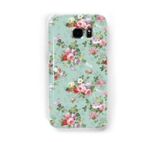 Chic elegant pink roses beautiful flowers pattern Samsung Galaxy Case/Skin