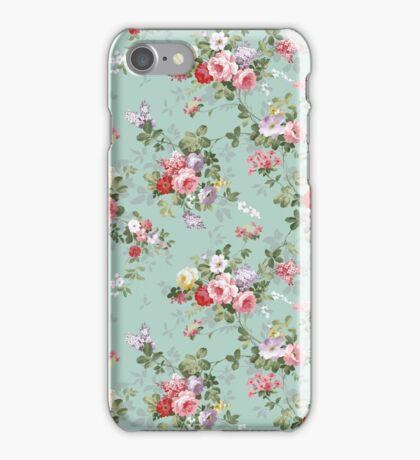 Chic elegant pink roses beautiful flowers pattern iPhone Case/Skin