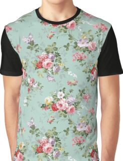 Chic elegant pink roses beautiful flowers pattern Graphic T-Shirt
