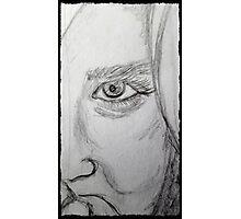 one eye girl Photographic Print