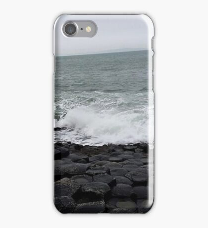 Waves at Giant's Causeway  iPhone Case/Skin