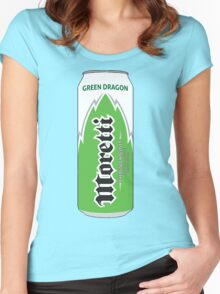 Moretti Green Dragon energy Women's Fitted Scoop T-Shirt