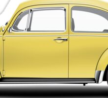 1972 Volkswagen Beetle - Saturn Yellow Sticker