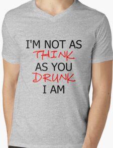 P!ATD/Music - I'm Not As Think As You Drunk I Am Mens V-Neck T-Shirt