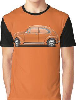1974 Volkswagen Beetle - Bright Orange Graphic T-Shirt