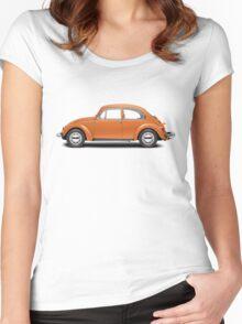 1974 Volkswagen Beetle - Bright Orange Women's Fitted Scoop T-Shirt