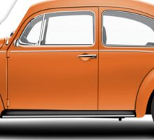 1974 Volkswagen Beetle - Bright Orange Sticker