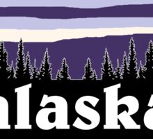 Purple Alaska Sticker