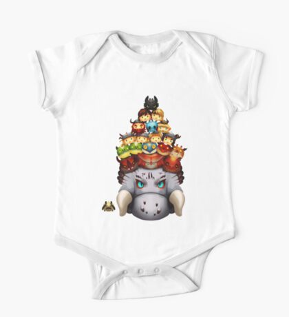 Stack Your Dragons One Piece - Short Sleeve