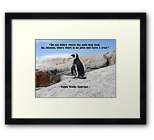 Penguin Philosophy, Do Not Follow Framed Print