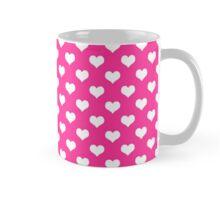 Pink White Heart Polka Dots Hearts Mug