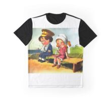 First Love - Cartoon Art Graphic T-Shirt