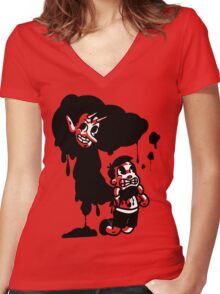 Don't Let Your Demons Kill You Women's Fitted V-Neck T-Shirt
