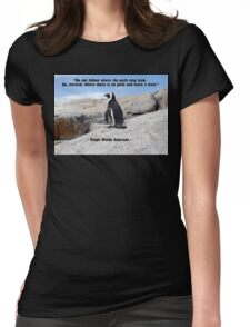 Penguin Philosophy, Do Not Follow Womens Fitted T-Shirt