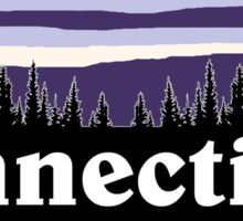 Purple Connecticut Sticker
