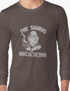 The Saurus thesaurus Knows All The WordsThe Saurus thesaurus Knows All The Words funny nerd geek geeky T-Shirt